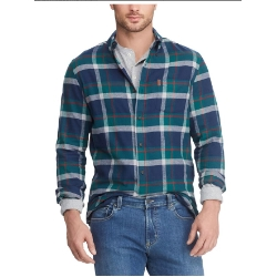 Chaps Mens Big and Tall Long Sleeve Performance Flannel Shirt