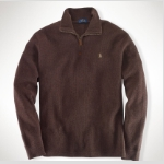Polo Half-Zip French-Rib Pullover Thumbnail