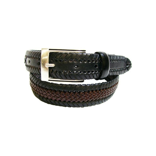 Gem-Dandy Two-Toned Leather Laced Belt Thumbnail