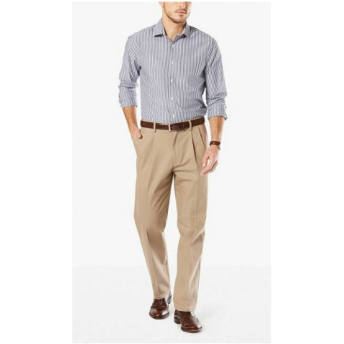 Levi Dockers Stretch Pleated Khakis - B&T Thumbnail