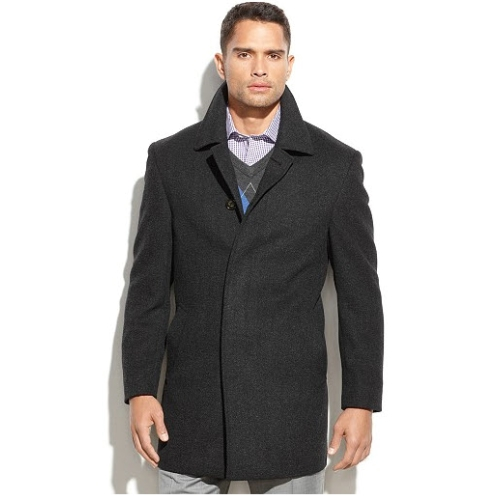 Lauren Ralph Lauren Wool Herringbone Coat Thumbnail