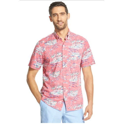 Izod Dockside Chambray Patterned Shirt Thumbnail