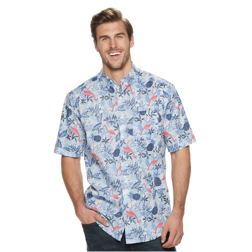 Izod Dockside Chambray Flamingo Shirt Thumbnail