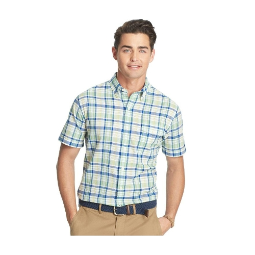 Izod Plaid Seaside Poplin Sportshirt Thumbnail