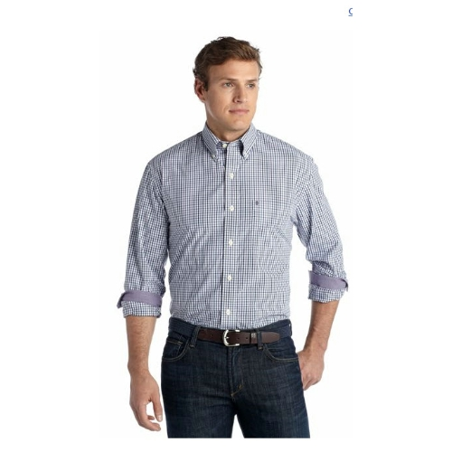 Izod Tattersall Long Sleeve Sportshirt Thumbnail