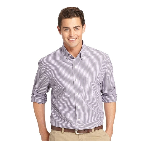 Izod Striped Long Sleeve Sportshirt Thumbnail