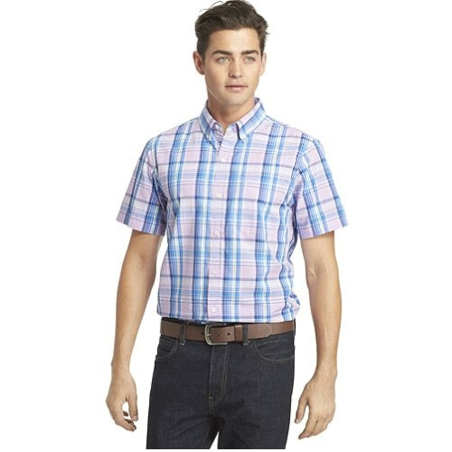 Izod Short Sleeve Saltwater Plaid Sportshirt Thumbnail