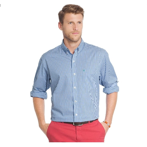 Izod Advantage Classic-Fit Gingham Sportshirt Thumbnail