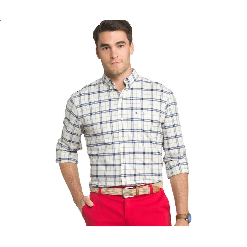 Izod Plaid Button-Down Sportshirt Thumbnail