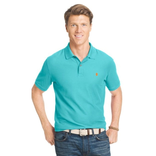 Izod Short Sleeve Pique Polo Shirt Thumbnail