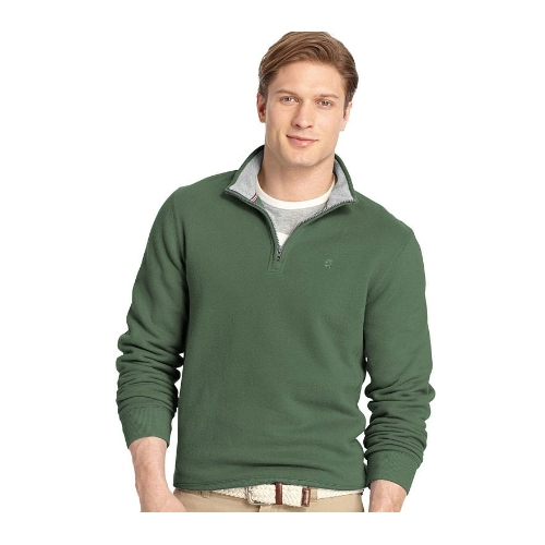 Izod Sueded Quarter Zip Fleece Pullover Thumbnail