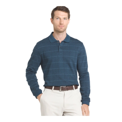 Van Heusen Jasper Windowpane Stretch Polo Thumbnail