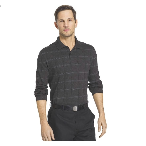 Van Heusen Jasper Windowpane Polo Thumbnail