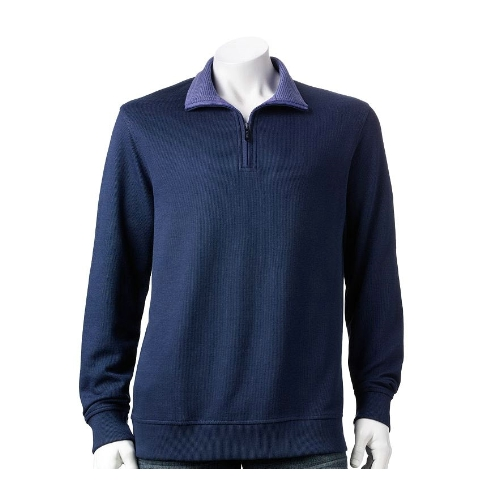 Van Heusen Quarter Zip Fleece Pullover Thumbnail