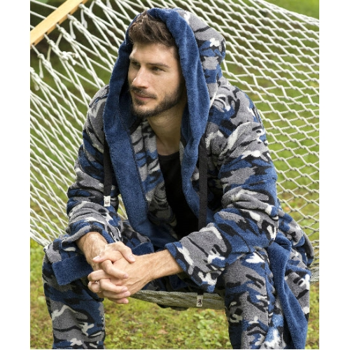 Majestic Camo Plush Fleece Hooded Robe Thumbnail