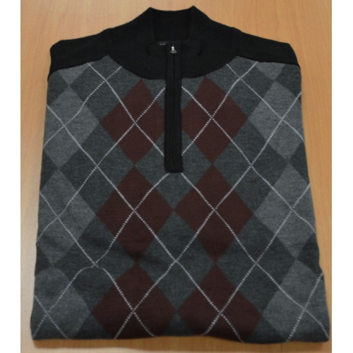 QUARTER ZIP ARGYLE SWEATER Thumbnail