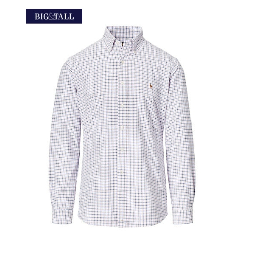 Polo Plaid Cotton Oxford Shirt Thumbnail