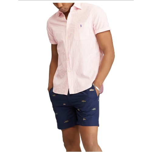Polo Classic Fit Seersucker Striped Shirt Thumbnail