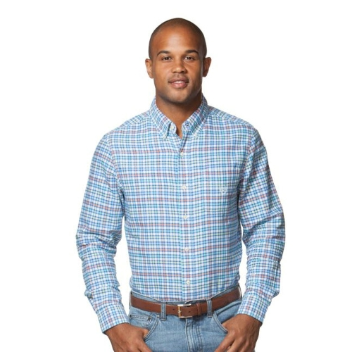 Chaps Long Sleeve Tattersall Oxford Shirt Thumbnail