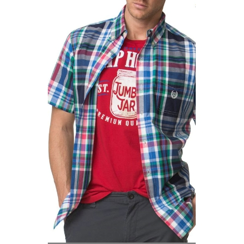 Chaps Short Sleeve Plaid Poplin Shirt Thumbnail