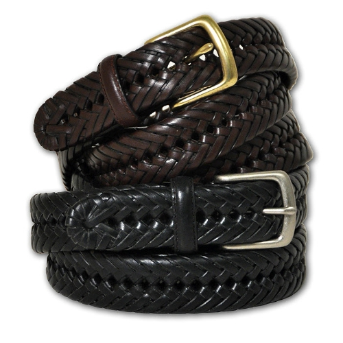 Aquarius Leather Braided Belt Thumbnail