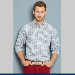 Nautica Multi Plaid Button Down Sportshirt Thumbnail