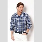 Nautica Union Blue Plaid Sportshirt Thumbnail