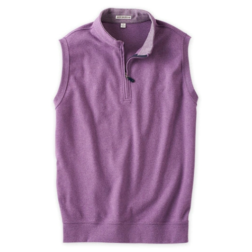 Peter Millar Melange Quarter Zip Fleece Vest Thumbnail