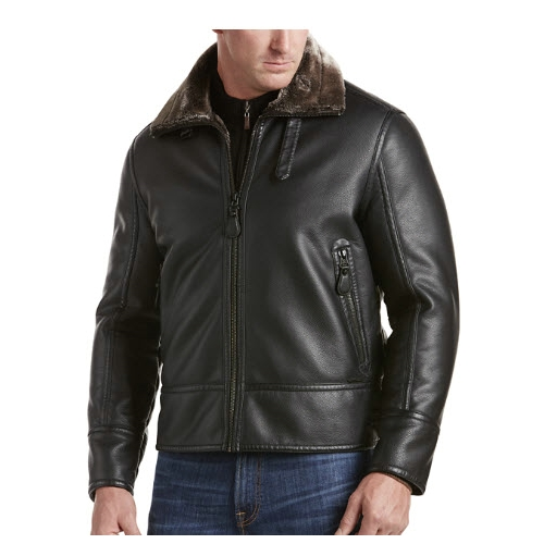 Andrew Marc Faux Leather Jacket Thumbnail