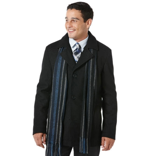 Perry Ellis Wool Scarf Coat Thumbnail