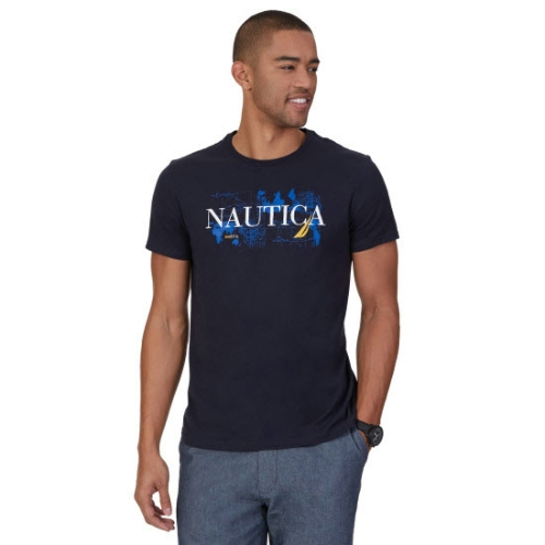 Nautica Blue Map Graphic T-Shirt Thumbnail