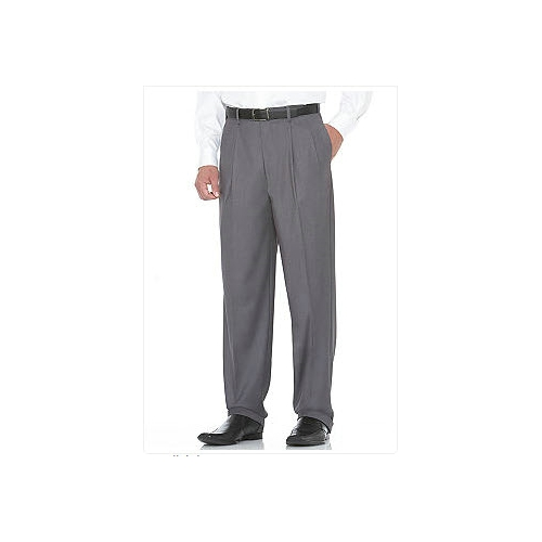 Savane Gabardine Pleated Comfort Dress Pants Thumbnail