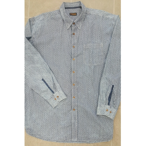 LENOR LS DENIM FOULARD SHIRT Thumbnail