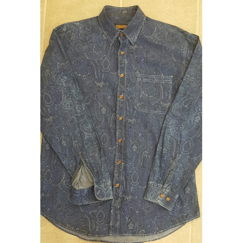 LENOR LS DENIM PAISLEY SHIRT Thumbnail