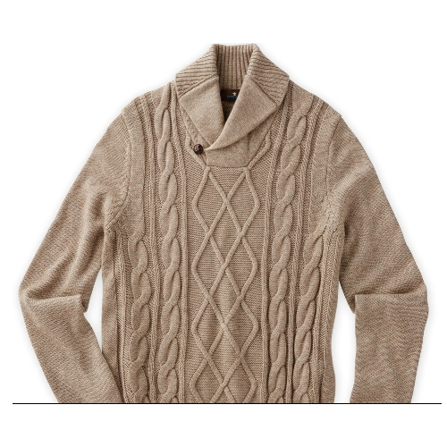 Toscano Fisherman Shawl Collar Sweater Thumbnail