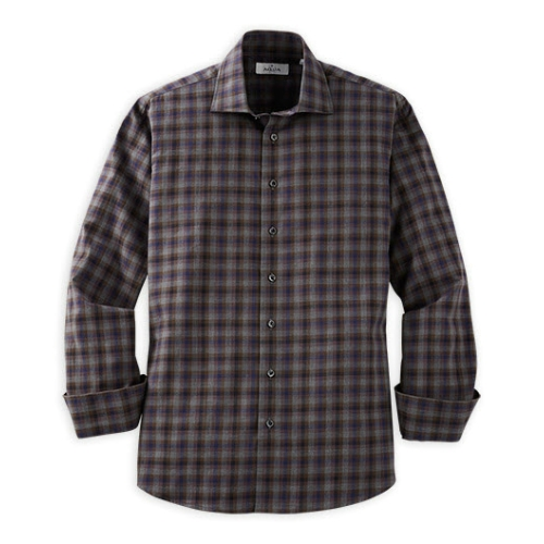 Toscano Plaid Long Sleeve Sportshirt Thumbnail