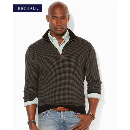 Polo Herringbone Half-Zip Sweater Thumbnail