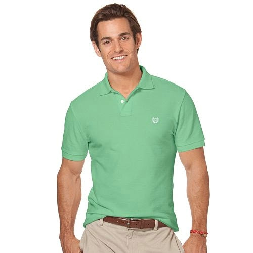 Chaps Solid Pique Polo Thumbnail