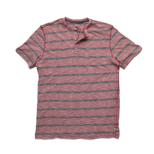 Surfside Supply Striped Henley Shirt Thumbnail