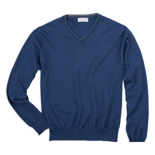 Toscano Merino Wool V-Neck Sweater Thumbnail