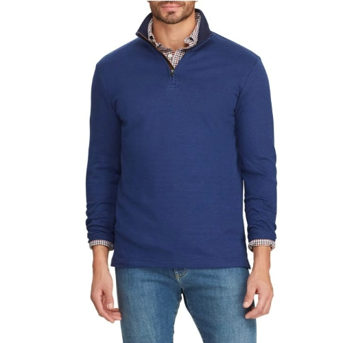 Chaps Quarter Zip Mock Neck Pullover Thumbnail