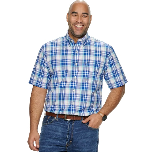 Izod Cool FX Plaid Shirt Thumbnail