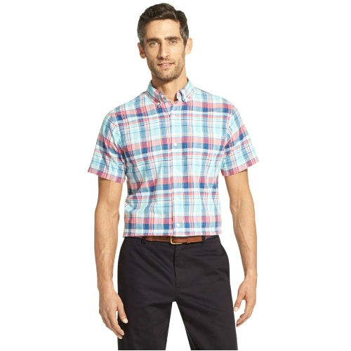 Izod Dockside Chambray Plaid Shirt Thumbnail