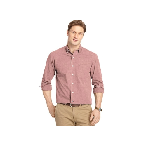 Izod End-on-End Long Sleeve Sportshirt Thumbnail