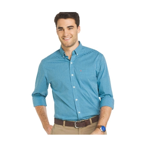 Izod Gingham Button-Down Sportshirt Thumbnail