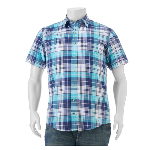 Izod Classic-Fit Chambray Plaid Sportshirt Thumbnail