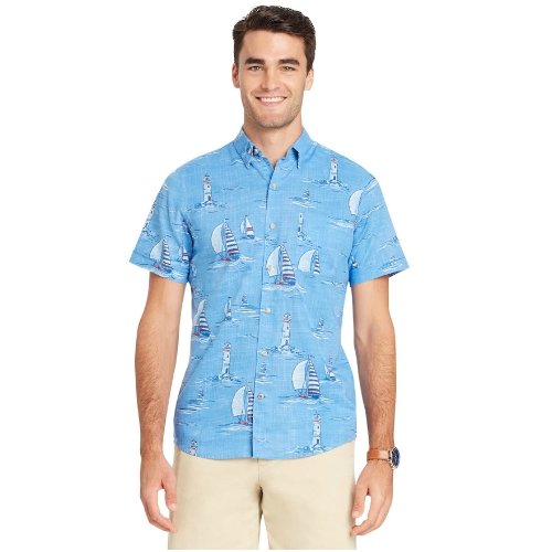 Izod Tropical Print Button-Down Shirt Thumbnail