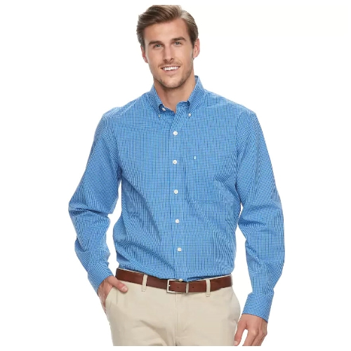 Izod Stretch Gingham Sportshirt Thumbnail