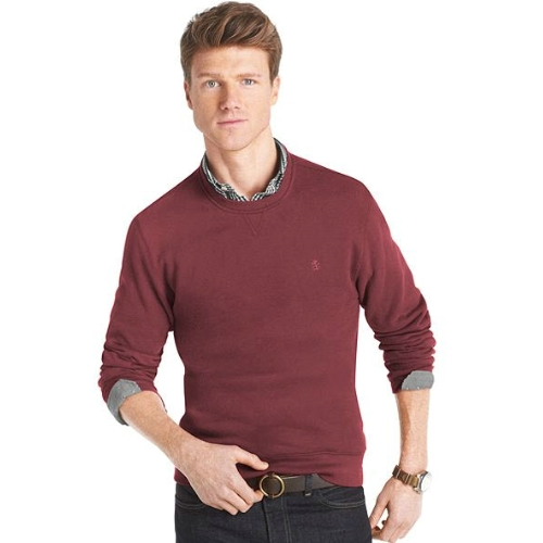 Izod Sueded Fleece Crew Neck Sweatshirt Thumbnail