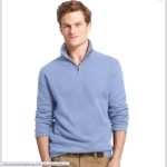 Izod Quarter Zip Mock Neck Pullover Thumbnail